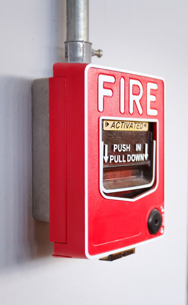 Une alarme incendie